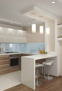 10 Styles Perfect for the small kitchen # Kitchen Faucets # Kitchen Lighting # Kitchen . - Home sweet Home - # for # kitchen . Kitchen Room Design, Modern Kitchen Design, Home Decor Kitchen, Interior Design Kitchen, Home Kitchens, Kitchen Ideas, Kitchen Inspiration, Small Kitchens, Dream Kitchens