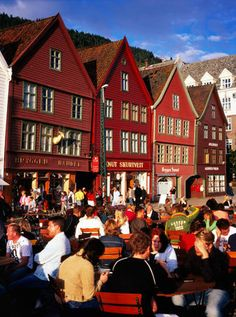 Bergen, Norway - Arriving via train from Oslo - supposed to be one of the most breathtaking train rides in the world.