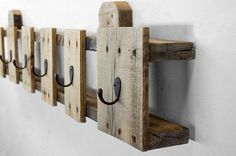 Pallet Made Coat Rack