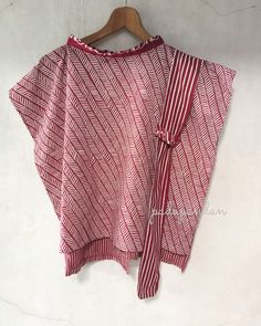 Bahan batik cap nuansa marun motif manggar dan salur Model blus bahu setali  kerah tinggi kerah 90d4234ef2