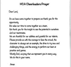 A Cheerleaders Prayer God Before We Compete Today We Come