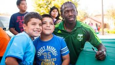 Chara & Rincón assist with Somos Timbers summer outreach programs