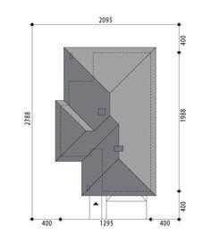 Rzuty Rzut parter Rzut działki Elewacje Elewacja przód Elewacja boczna Elewacja boczna Elewacja tył Przekroje Opis Miriam IV to piękny, gustowny dom parterowy, którego główny atutem są cztery sypialnie w strefie nocnej, w tym jedna z nich zaprojektowana została jako moduł z osobną, prywatna garderobą i łazienką, oraz wyjściem na taras. Projekt ten idealnie wpasuje się w potrzeby 4-6-osobowej rodziny. Wygodny wiatrołap prowadzi do wnętrza domu. Część dzienna zlokalizowana została w l Bungalow Style House, Facade House, Bar Chart, House Plans, New Homes, How To Plan, House Ideas, Villa, Houses