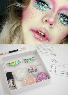 http://sosuperawesome.com/post/152342372233/handmade-lashes-face-glitter-and-eye-mask-sets-by