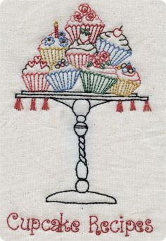 I want towels with this :-) Diy Embroidery Patterns, Embroidery Fonts, Embroidery Hoop Art, Applique Patterns, Cross Stitch Embroidery, Mundo Craft, Cupcake Crafts, Sewing Crafts, Needlework