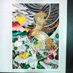 #taka #usagi #skull #paint #watercolour #japanesestyletattoo #irezumi #portugal #madneedle