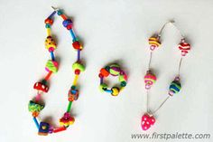 Dough Bead Jewelry Craft | Kids' Crafts | FirstPalette.com