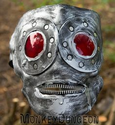 Hand shaped leather gimp mask zipper mouth by MonkeyDungeon, $124.99