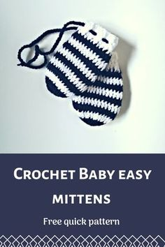 crochet baby mittens free pattern crochet baby mittens free pattern Knitting works range from the time when ladies spend their down time, when selecting t. Crochet Baby Mittens, Crochet Mittens Free Pattern, Crochet Baby Beanie, Crochet Baby Shoes, Crochet Gloves, Crochet For Boys, Newborn Crochet, Crochet Slippers, Baby Knitting
