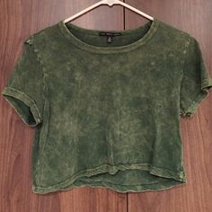 Urban Outfitters Green Burnout Crop Top Great condition Urban Outfitters Tops Crop Tops