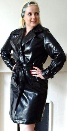 Black Leather Pencil Skirt, Long Leather Coat, Leather Skirt, Leather Jacket, Bronze, Latex Dress, Rain Wear, Lady, Raincoat