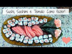 Comida Japonesa: Sushi, Sashimi e Temaki de Salmão - Brincando de Ana Maria