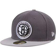 Brooklyn Nets New Era Shader Melt 2 59FIFTY Hat - Heathered Gray