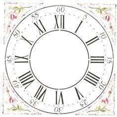 """Winterthur 12"""" Multilayer Cross Hall Clock Face  Wall Stencil"""