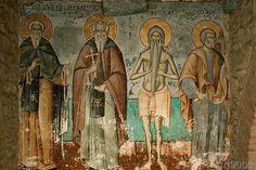 byzantinisch Wandmalerei - Athos, Protaton, Vier Heilige