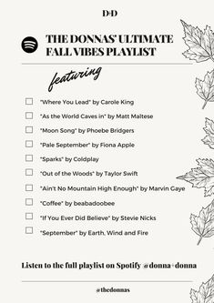 Our Ultimate Fall Playlist 2021
