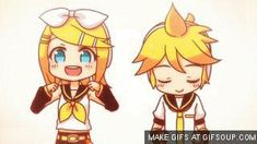 Kagamine rin and len electric angel gif