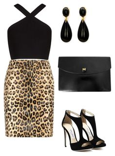 """""""Untitled #499"""" by mchlap on Polyvore featuring Yves Saint Laurent, BCBGMAXAZRIA and Hermès"""