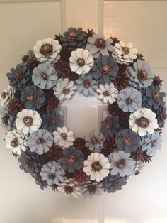A personal favourite from my Etsy shop https://www.etsy.com/uk/listing/558658391/door-wreath-in-grey-and-cream-wall