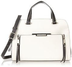 Women's Top-Handle Handbags - Nine West Angular Zippers Satchel Top Handle Bag Snow Petal One Size -- Be sure to check out this awesome product.