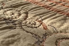 A detail of the embroidery on the Woodstock quilt. To buy this quilt, or find out more about our bedding collection - take a look at our website: http://www.naturalbedcompany.co.uk/woodstock-quilt.php  Feel free to pin!