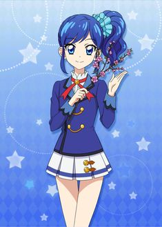 Aoi with flower