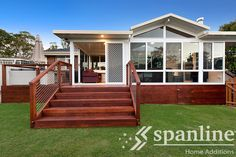 Pergola roofing, enclosed under deck, Railing - ACT Glass Enclosure & Patio by Spanline Carport Patio, Deck With Pergola, Pergola Shade, Patio Roof, Diy Pergola, Pergola Kits, Pergola Ideas, Australian Homes, Home Additions