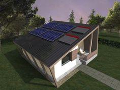 Casa Ecologica MICRO STANDARD - Construcții de case din lemn și case imprimate 3D Renewable Energy Projects, Pv Panels, Passive House, Building A House, Solar, Sweet Home, Outdoor Decor, Houses, Home Decor