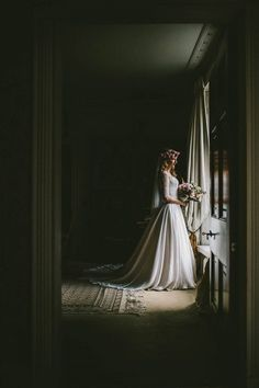 """""""Bridal Portrait by Samuel Docker Photography."""" Inspiration board by Gwendolyn-Mary.com, bringing scent and music together to create exquisite fragrance."""