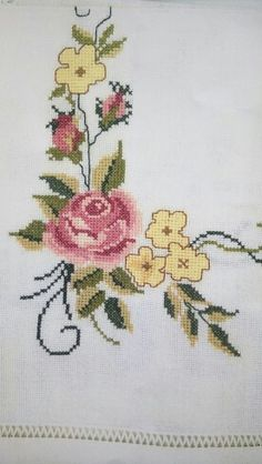 Cross Stitch Flowers, Bargello, Needlepoint, Embroidery, Pattern, Design, Painting On Fabric, Cross Stitch Embroidery, Craft