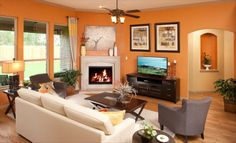Orange you glad that @Lennar Dallas painted this living space such a lovely hue?!