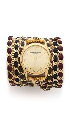 Sara Designs Fancy Chain Wrap Watch