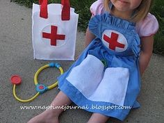 girl's doctor costume-cute!  **cough cough ** looks more like a nurse's outfit... <3
