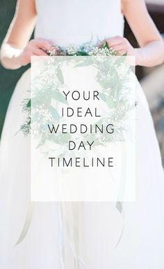Great tips and a quick 2-Question Quiz to determine your ideal wedding day timeline