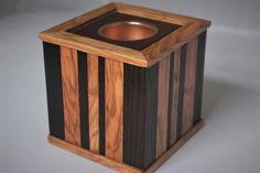 Wooden Tea Light Box £40.00 Tea Light Holder, Tea Lights, Wood Crafts, Cube, Metal, Box, Furniture, Home Decor, Homemade Home Decor