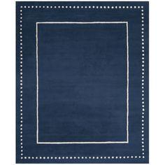 Safavieh Bella Contemporary Handmade Navy Blue / Ivory Wool Rug (8' x 10') (BEL151G-8), Size 8' x 10'
