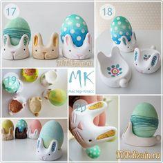 Подставка под пасхальное яйцо в виде кролика