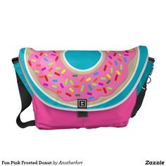 Fun Pink Frosted Donut Courier Bag