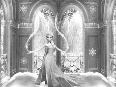 Elsa inside her magical palace