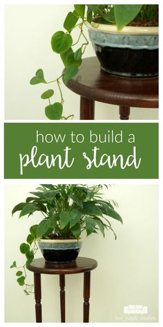Build your own plant stand with this step-by-step tutorial. This simple DIY indoor wooden plant stand is an easy projects you can make in a weekend. Diy Furniture Building, Diy Furniture Easy, Furniture Makeover, Wooden Plant Stands, Diy Plant Stand, Diy Wood Projects, Easy Projects, Simple Diy, Easy Diy