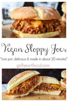 A twist on a classic, these Vegan Sloppy Joes will knock your socks off! Loaded with lentils, a soy based crumble and spices, this one pot comfort food meal will satisfy the hunger bug every time! recipe meals Best Vegan Sloppy Joes {made in 20 minutes} Vegan Keto, Vegan Foods, Vegan Dishes, Vegan Lunches, Raw Vegan, Vegan Snacks, How To Vegan, Yummy Vegan Food, Going Vegan