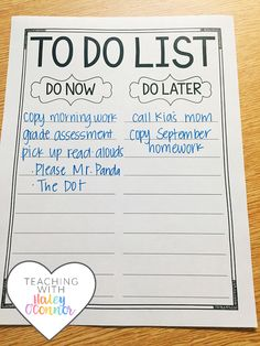 Teacher To Do List by Haley OConnor