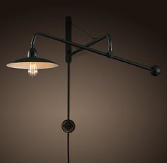 Reproduction 1940's Architect's Boom Sconce from Restoration Hardware