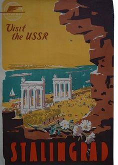1958 USSR travel poster-STALINGRAD