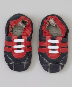 Another great find on #zulily! Navy & Red Sneaker Leather Booties by Tommy Tickle #zulilyfinds
