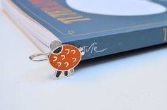 Sterling Silver Bookmark  Fun Colorful Design  by maldonadojoyas
