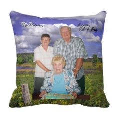 A custom pillow made for a special occasion and not for sale.