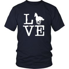 I Love Horse T Shirt Horses Riding Racing Equestrian Gifts