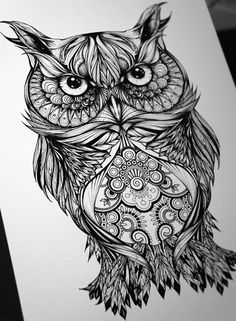 Geometric Owl Tattoo So You Look Scary Trendy Tattoos, New Tattoos, Body Art Tattoos, Small Tattoos, Owl Tattoo Design, Tattoo Designs, Tattoo Ideas, Behance Branding, Behance Illustration