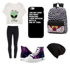 """""""School"""" by luisalerman ❤ liked on Polyvore featuring Paige Denim, Vans and Free People"""